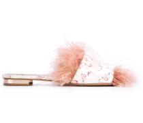 - Pantoletten mit Flamingo-Muster - women - Leder