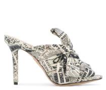 'Ilona' Mules mit Zeitungs-Print