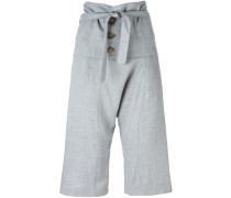 Cropped-Hose mit geknoteter Taille