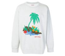 Sweatshirt mit Palmen-Print