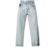 Boyfriend-Jeans mit Reißverschluss-Detail