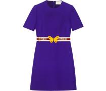 Wool silk pintuck dress with belt