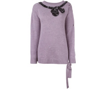 sequin bow jumper
