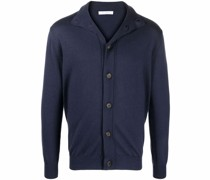 fine-knit button-up cardigan
