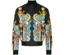 Triptych print bomber jacket