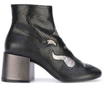 Stiefel mit Metallic-Applikationen - women