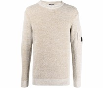 Lens-detail textured sweatshirt