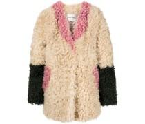 Ermie colour-block coat