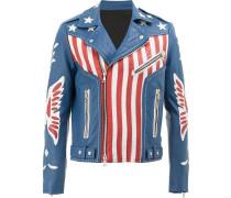 Bikerjacke mit US-Flaggen-Print