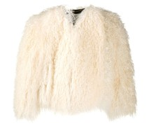 Shearling-Jacke im Oversized-Look