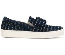 Tweed-Sneakers mit Schnalle