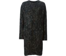 Tweed-Mantel ohne Kragen