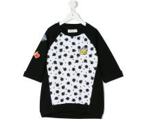 Sweatshirt mit gepunktetem Einsatz - kids