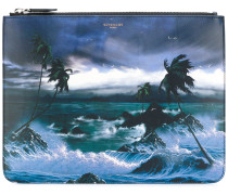 "Clutch mit ""Hawaii""-Print"