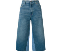butterfly patch cropped jeans