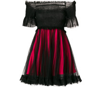 tulle layer mini dress