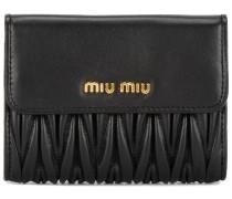 black small matelassé logo wallet