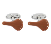 bicycle saddle cufflinks