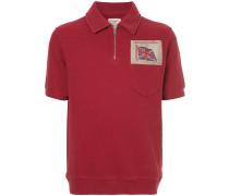embroidered flag polo shirt