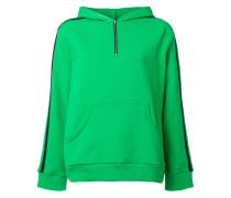 panelled zip hoodie