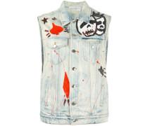 'Eazy' Jeansweste mit Print