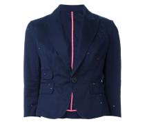 three-quarter length sleeve blazer