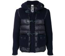 padded waffle knit jacket