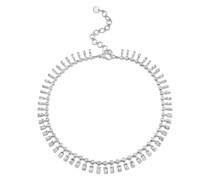 18kt Weißgoldchoker mit Diamanten