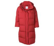 padded cropped sleeve coat