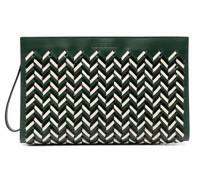 chevron-weave top handle bag