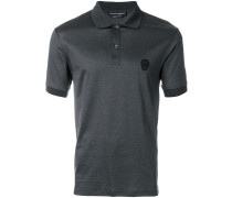 skull patch polo T-shirt