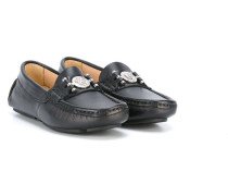 - Loafer mit Medusa-Logo - kids - Leder/Metall