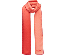 embossed logo scarf
