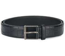 Monogram Roller crocodile embossed belt