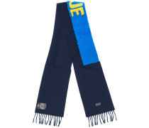 Blue embroidered scarf
