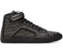 High-Top-Sneakers mit Würfel-Print