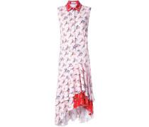 Hemdkleid mit Volant-Saum