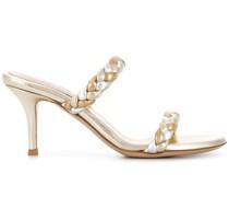 Sandalen im Metallic-Look, 80mm