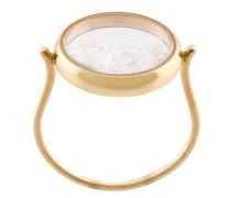 'Chiba' Gelbgoldring mit Diamanten im Saphirglas