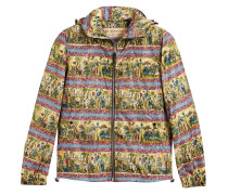 Figurative Print Lightweight Technical Hooded Jacket
