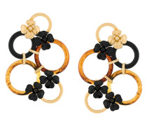 multi hoop floral earrings