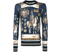 old soldier printed sweater