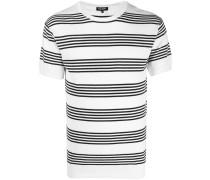 Gestricktes T-Shirt mit Streifen