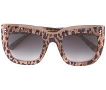 Rechteckige Oversized-Sonnenbrille - women