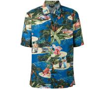 Hawaiihemd mit kurzen Ärmeln - men - Baumwolle