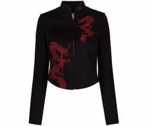 Schmale Jacke mit Drachen-Motiv