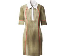 Kleid mit Poloshirt-Kragen
