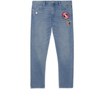 Schmale Jeans mit Patches