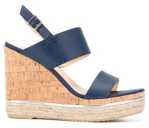 Wedge-Sandalen mit Korkabsatz