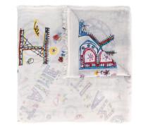 scribble print scarf - men - Baumwolle